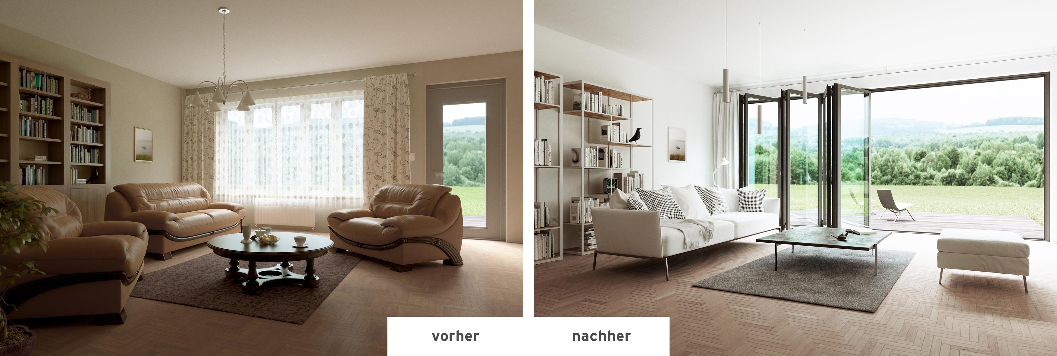 vorher nachher renovieren mit glas faltwand solarlux blog. Black Bedroom Furniture Sets. Home Design Ideas