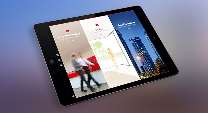 """Solarlux iPad App """"Spaces & Products"""""""